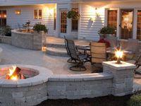Firepits, Fireplaces & Backyard Projects