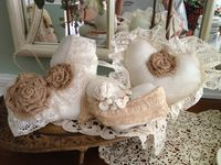 * fait main tissu shabby chic Stag//cerf Hanging Heart Décorations X 2 *
