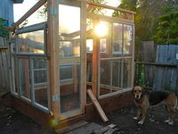 Greenhouses with recycled materials