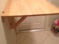 fold down shelf bar on pinterest breakfast bars laundry. Black Bedroom Furniture Sets. Home Design Ideas