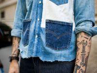 Levi's Veste en jean Type 3 Johnny avec col en peau de