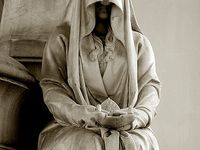 A pleurant (weeper) is a statue placed at the graveside to guard or mourn for a loved one eternally.... How hauntingly beautiful
