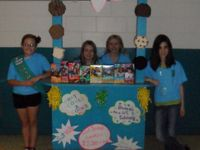 Girl scout cookie sales/booth