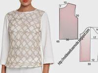 Blusa Facil De Fazer 32 Moldes Dicas Moda Costura Fashion