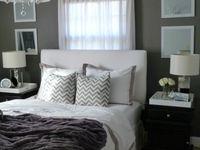 Purple cream and gray on pinterest purple bedrooms for Cream and purple bedroom ideas