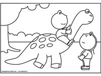 1000 images about dino 39 s kleurplaten en prints op for Tomie depaola coloring pages