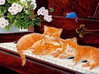 Hud Wilson Hepple Felinos Gatos Arte