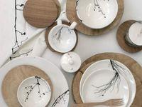 idées peinture sur porcelaine
