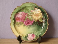Antique Cake stands and desert plates