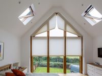 Triangular window coverings