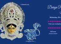 Image Result For Durga Puja Invitation Card Design Invitation Card Design Card Design Durga Puja