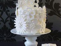 Iced wedding cakes