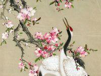 peinture enluminures arbres et animaux