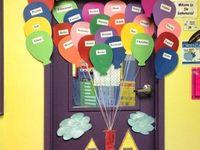 Classroom Ideas: Boards and Door Deco