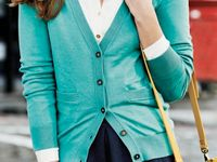 Mint cardigan (Outfit Inspiration)