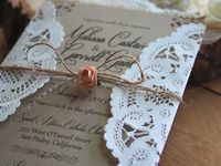 burlap and lace things
