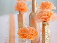 Peach and White Weddings on Pinterest   Peach Wedding Cakes, Peach ...