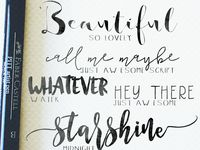 CREATIVITY: Calligraphy / A board dedicated solely to people who take the time to beautifully transcribe the spoken word.