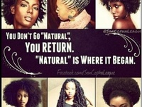Embracing the coils and kinks of natural hair.