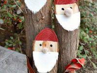 Holiday Ideas / Wooden Santa Claus