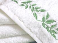 Diseño de la hoja de monograma Bordado En Toallas Bath Robes Terry De Felpa De