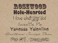 valentine block font