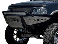 Addictive Desert Designs Stealth Full Width Black Front Pre Runner Bumper With Hoop Ford F150 Ford Trucks F150 Jeep Bumpers