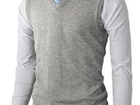 Haggar Men's Exploded Argyle Button Front Sweater Vest