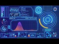 Audio Spectrum Hologram Theme Free After Effects Templates Sci Fi Theme Attractive No Third Party Plugin Easy Seni Digital Gambar Bergerak Desain Grafis