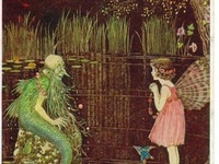 "Australian Fairies and other little creatures. early 20th c / ""The war stopped the taste for fairies — in parents anyhow — and the fairies fled, appalled at the bomb,"" Ida Rentoul Outhwaite"