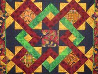 Quilts with African enfluence