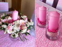 Różowo-kremowy ślub sierpniowy / Przepis na ten super słodki koktajl ślubny to: Zmiksować róże, eustomy, dalie, hortensje i mini gerbery. Pod koniec dodać dianthus i limonium. Wymieszać. Udekorować pachnącym groszekiem <3  Smacznego!