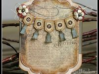 Cards and other creations made using spellbinder dies.