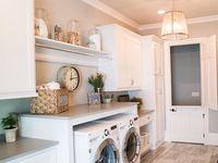 Dining room turned laundry/mudroom