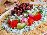 ... All Greek on Pinterest   Roasted Red Peppers, 7 Layers and Panna Cotta