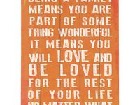 Words ~ Family, Dedication, Love