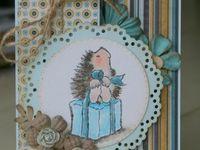 Hedgehog cards penny black