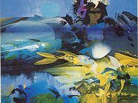 Alejandro Obregón (Barcelona, España, 1920 - Cartagena, Colombia, 1992) / Pintor colombiano. Su familia se trasladó definitivamente a Barranquilla cuando el futuro pintor había cumplido dieciséis años. Con toda seguridad, el cambio de cultura, de ciudad y de ambiente impresionaron al adolescente, en especial el exuberante trópico, con su luz radiante y aire de libertad. Aprendió entonces a comer pescado con ñame, sancocho de sábalo, a fumar Pielroja (cigarrillo que fumó hasta su muerte) y a tomar ron blanco.