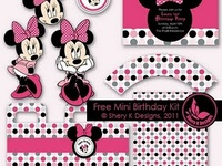 Character/Dr. Suess/Minnie Birthday Party & Free Printables