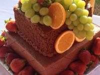 Grooms cake with lots of fruit
