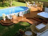 Pools, porches, decks, fire pits, pergolas, and gazebos