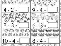 68 Best Kindergarten subtraction worksheets images in 2020