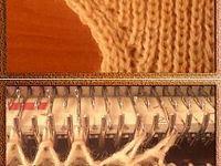 Вязание на машинке.