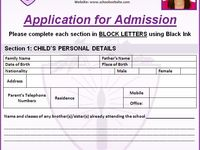 Basic School Admission Forms Format With Images School Admission Form School Admissions School Forms