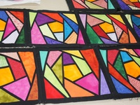 stained glass quilt patchwork