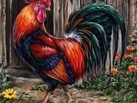 Painting/Roosters/Chickens/Ducks