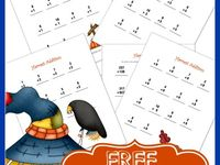 Worksheets on Pinterest | Fall Crafts, Addition Worksheets and Fall ...