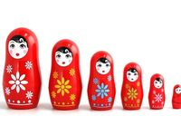 I adore Matryoshkas. Blame it on my Russian heritage, but there is something too sweet and too clever about these dolls! If you never know what to buy me...but me these!