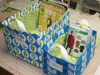Totes with fabric and cardbord