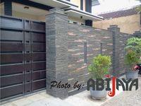 19 Pagar Batu Alam Ideas Fence Design Compound Wall Boundary Walls